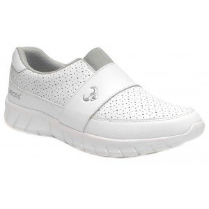 Chaussure professionnelle travail blanche mixte - PROMO medical entretien internat etudiant - BLANC
