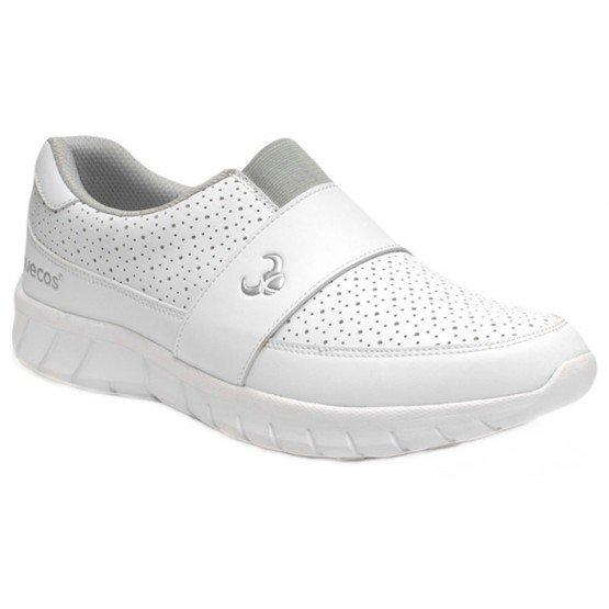 Chaussure professionnelle travail blanche mixte - PROMO aide domicile medical auxiliaire vie infirmier - BLANC