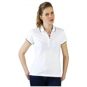 Polo professionnel travail femme - PROMO auxiliaire vie medical aide domicile infirmier - BLANC