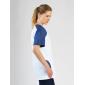Tunique professionnelle travail blanche manches courtes femme - PROMO aide domicile medical auxiliaire vie infirmier - BLANC/COB
