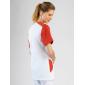 Tunique professionnelle travail blanche manches courtes femme - PROMO aide domicile medical auxiliaire vie infirmier - BLANC/COR