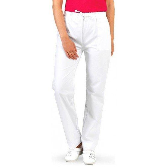 Pantalon professionnel travail mixte auxiliaire vie medical aide domicile infirmier - BLANC