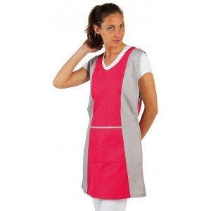 Chasuble tablier blouse professionnel femme entretien auxiliaire vie menage aide domicile - FUCHSIA/PERLE