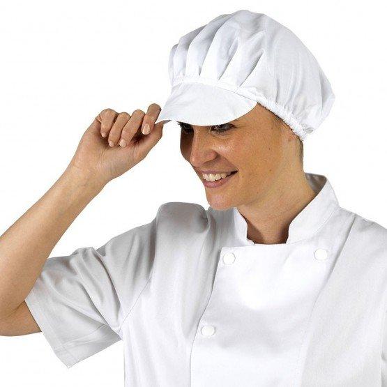 Coiffe professionnelle travail mixte restaurant cuisine serveur hotel - BLANC