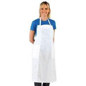 Tablier 3 pans cuisine professionnel blanc 100% coton femme restaurant traiteur ecole apprentis - BLANC
