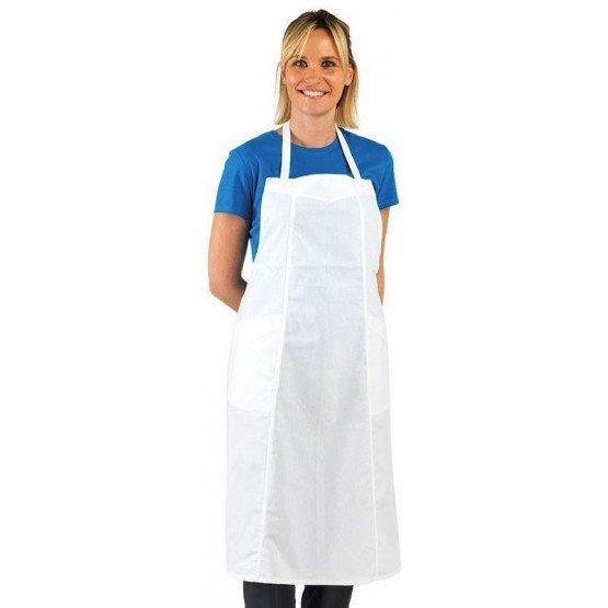 Tablier 3 pans cuisine professionnel blanc 100% coton femme restaurant cuisine serveur hotel - BLANC