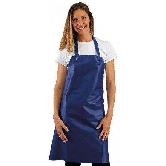 Tablier protection femme PVC cuisine professionnel blanc PVC femme cuisine menage hotel entretien - BLEU