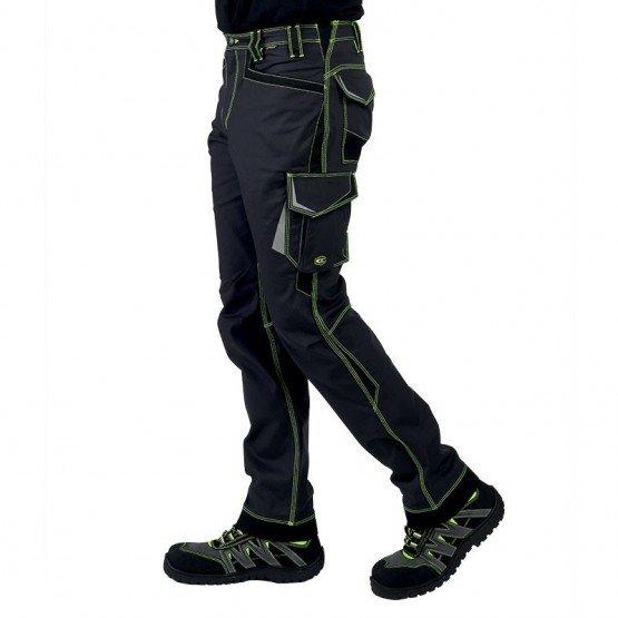 GRIS/FLUO - Pantalon de travail professionnelle homme menage internat chantier logistique
