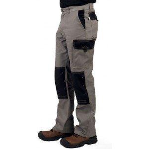 Pantalon travail professionnel homme transport chantier manutention artisan - TAUPE/NOIR