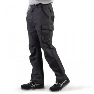 Pantalon travail professionnel homme - PROMO chantier manutention creche bac pro - GRIS