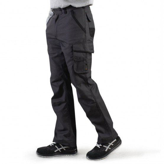 GRIS - Pantalon de travail professionnelle homme - PROMO manutention chantier logistique artisan