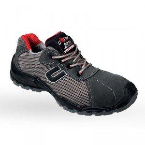 Chaussure securite professionnelle travail cuir ISO EN 20345 S1P homme artisan menage chantier entretien - GRIS