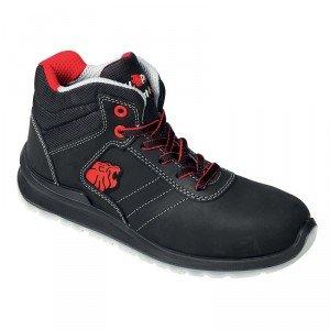Chaussure haute securite professionnelle travail noire cuir ISO EN 20345 S3 homme artisan entretien chantier menage - NOIR
