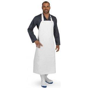 Tablier protection PVC cuisine professionnel blanc PVC homme cuisine boulanger ecole apprentis - BLANC