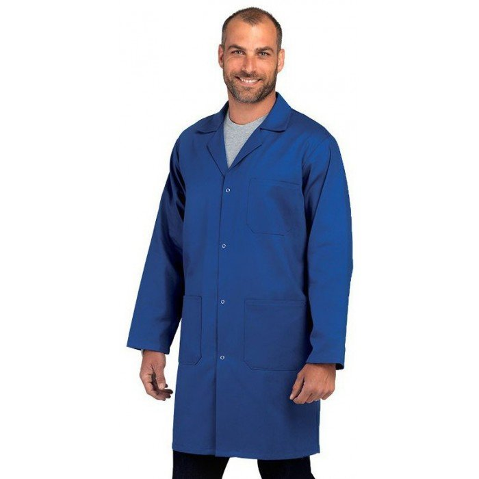blouse homme coton pressions professionnelle de travail blanche manches longues 100 coton. Black Bedroom Furniture Sets. Home Design Ideas