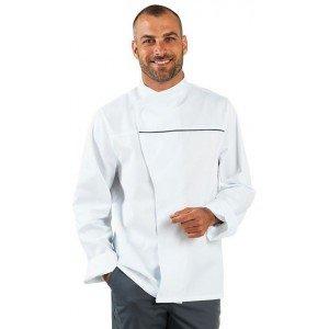Veste cuisine professionnelle travail manches longues mixte restauration patissier ecole serveur - BLANC