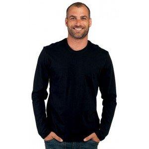 Tee-shirt professionnel travail manches longues homme medical auxiliaire vie restauration ecole - GRIS