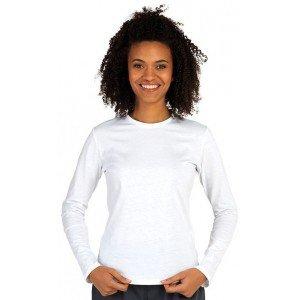 Tee-shirt professionnel travail manches longues femme aide domicile infirmier auxiliaire vie medical - BLANC
