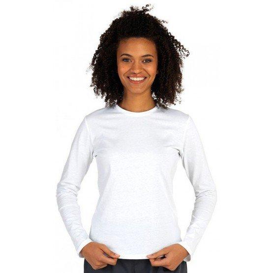 Tee-shirt professionnel travail manches longues femme infirmier aide domicile medical auxiliaire vie - BLANC