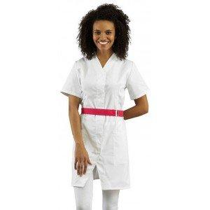 Blouse professionnelle travail blanche manches courtes femme - PROMO menage aide domicile entretien auxiliaire vie - ZINC