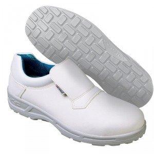 Chaussure cuisine professionnelle travail blanche ISO EN 20347 mixte hotel restaurant cuisine restauration - BLANC