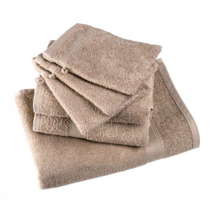 April - Serviette De Toilette 100% Coton 50 X 90 Cm (Sable