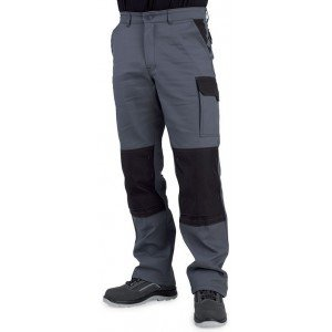 Pantalon travail professionnel homme manutention chantier transport artisan - TAUPE/NOIR