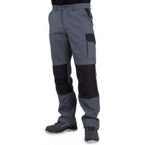 Pantalon travail professionnel homme manutention artisan logistique chantier - TAUPE/NOIR