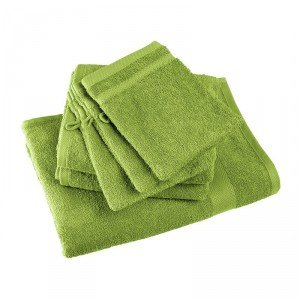 Drap bain professionnel hebergement foyer 100% Coton medical coiffeur creche infirmier - VERT