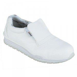 BLANC - Chaussure de cuisine de sécurité S2 professionnelle de travail blanche noire ISO EN 20345 S2 mixte hôtel serveur restaur