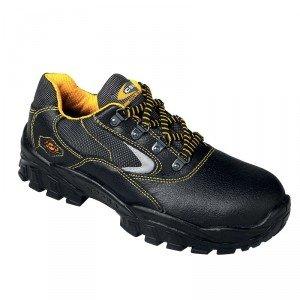 Chaussure securite S3 professionnelle travail noire cuir ISO EN 20345 S3 homme artisan entretien chantier menage - NOIR