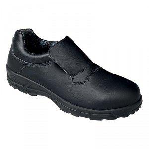Chaussure cuisine securite professionnelle travail noire ISO EN 20345 S1 mixte restauration serveur hotel cuisine - NOIR