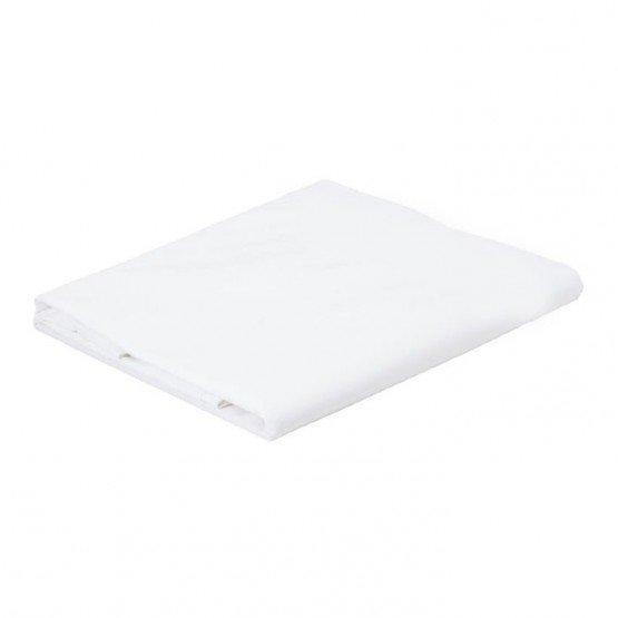 BLANC - Drap plat professionnelle hébergement foyer blanche Polyester/Coton cuisine restaurant restauration hôtel