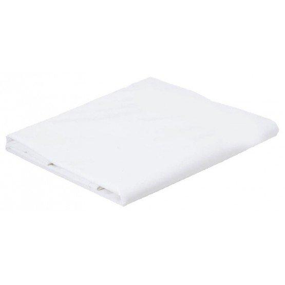Drap plat professionnel hebergement foyer blanc Coton/Polyester hotel ecole restaurant internat - BLANC