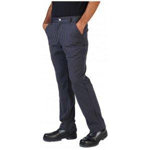Pantalon cuisine professionnel travail homme - PROMO serveur infirmier cuisine medical - NOIR RAYE