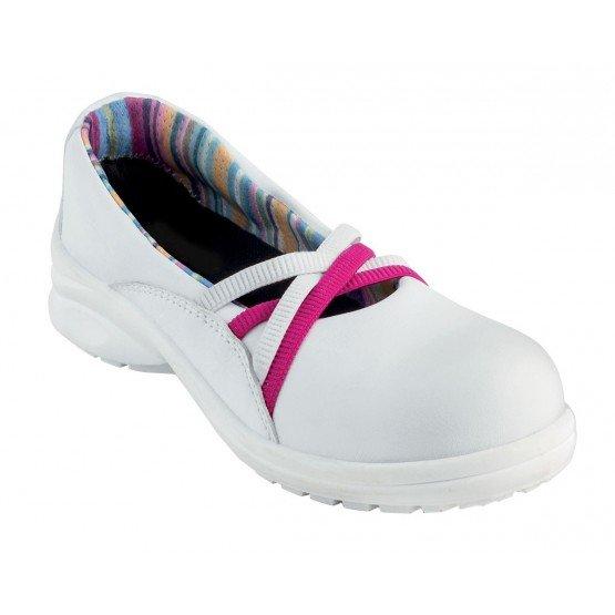 Chaussure de s curit professionnelle de travail blanche noire iso en 20345 s2 femme entretien - Chaussure de securite blanche ...