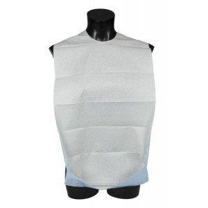 Bavoir adulte usage unique professionnel travail Polyethylene cellulose auxiliaire vie infirmier aide domicile medical - BLEU