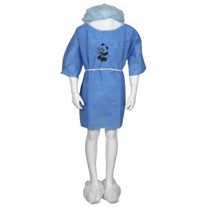 Kit patient enfant usage unique professionnel travail SMS + PPSB + PP (Polypropylene) medical foyer infirmier internat - BLEU