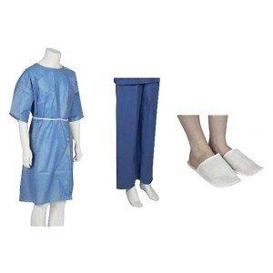 Kit patient adulte special ambulatoire usage unique professionnel travail SMS + PP medical ecole infirmier internat - BLEU