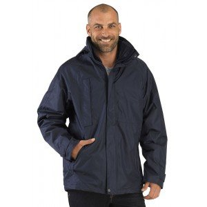 Parka professionnel travail homme - PROMO manutention artisan transport chantier - MARINE