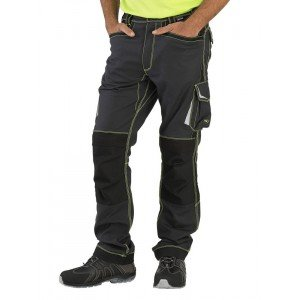 Pantalon travail professionnel homme - PROMO manutention artisan transport chantier - GRIS/FLUO