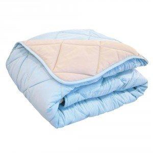 Lot de 4 couvertures matelassées bicolores haute lavabilité