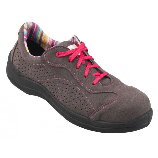 Chaussure securite S1P professionnelle travail ISO EN 20345 S1P femme chantier menage artisan entretien - GRIS
