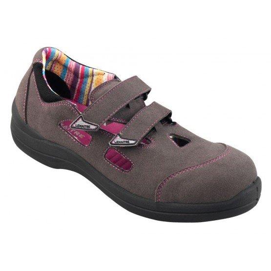 Chaussure securite S1P professionnelle travail ISO EN 20345 S1P femme chantier entretien artisan menage - GRIS