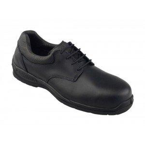 Chaussure securite professionnelle travail noire cuir ISO EN 20345 S3 homme - PROMO chantier entretien artisan menage - NOIR