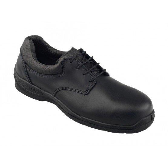 NOIR - Chaussure de sécurité S3 professionnelle de travail noire en cuir ISO EN 20345 S3 homme foyer chantier manutention entret
