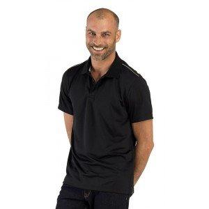 Polo professionnel travail homme aide domicile medical auxiliaire vie infirmier - NOIR