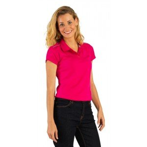 Polo professionnel travail femme medical boucher estheticienne chantier - FUCHSIA