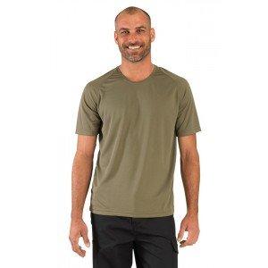 Tee-shirt professionnel travail manches courtes homme - PROMO aide domicile infirmier auxiliaire vie medical - OLIVE