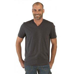Tee-shirt professionnel travail manches courtes homme - PROMO aide domicile medical auxiliaire vie infirmier - ARDOISE